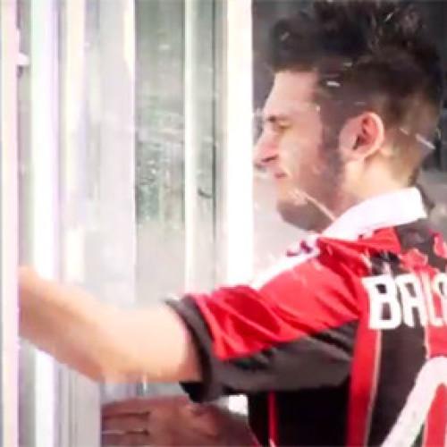 Levissima si pubblicizza a San Siro per il Milan (Video)