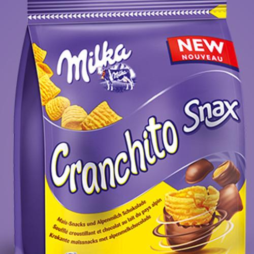 Cranchito il nuovo snack di Milka