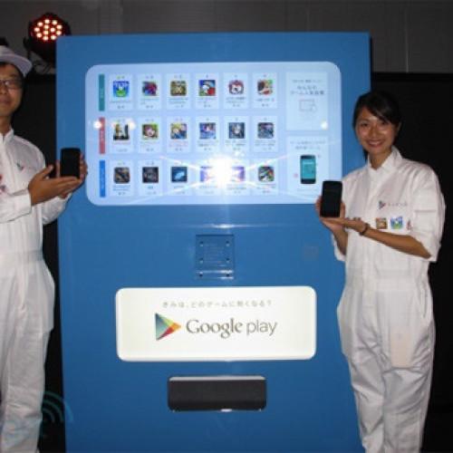 Giappone. Le app di Google Play in un distributore automatico