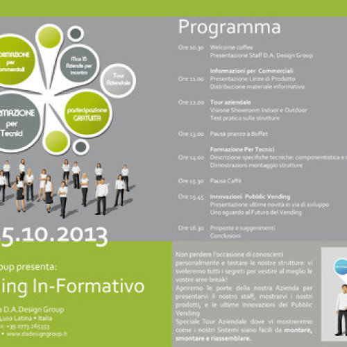 D.A. Design Group. Domani 1° Training In-Formativo