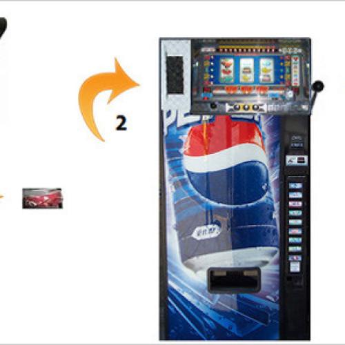 Giappone. Il distributore di bibite e slot tutti in uno (Video)