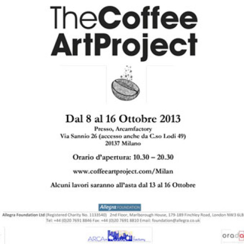 "S'inaugura oggi ""The Coffee Art Project"""