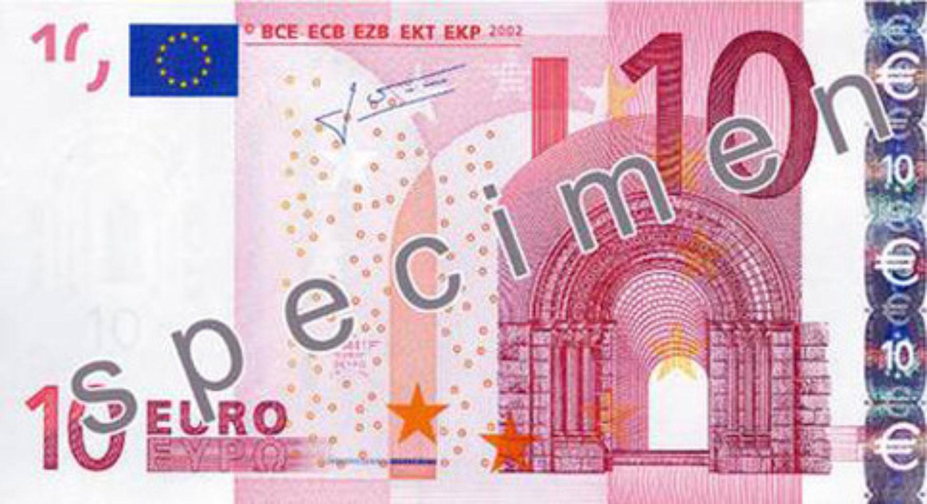 Oggi l'inaugurazione dei nuovi 10 euro serie Europa