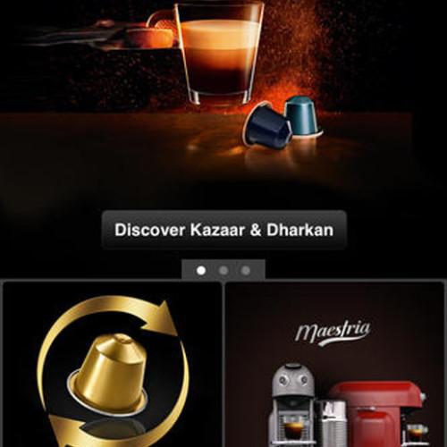 Una app per gli appassionati Nespresso