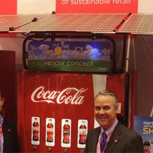 La vending machine a pannelli solari di Coca-Cola