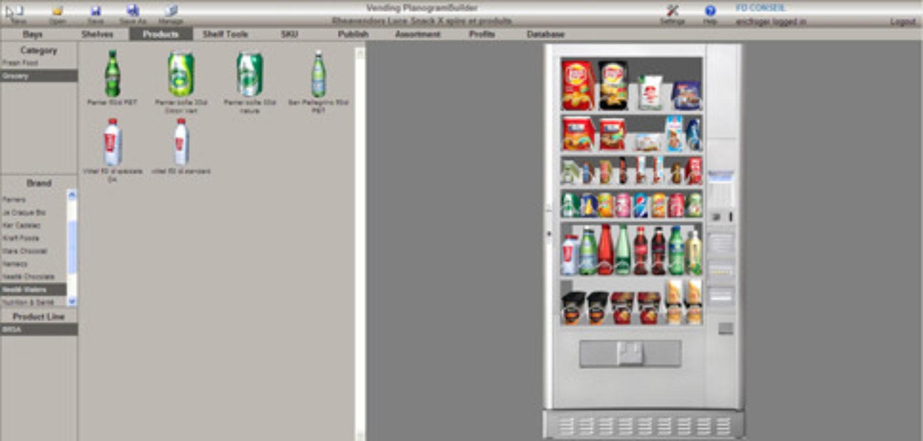 Un software 3D per configurare i distributori automatici