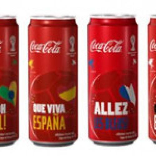 La lattina di Coca-Cola tifa per i Mondiali