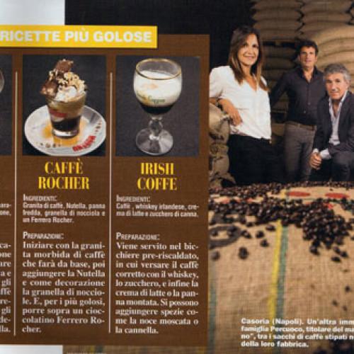 """Sulla rivista """"Chi"""" in edicola, Caffè Moreno presenta i caffè dell'estate"""