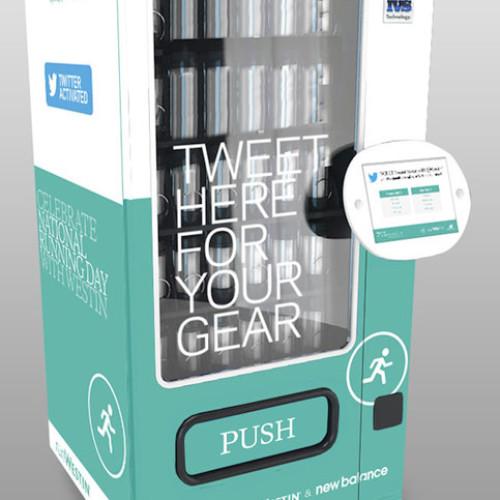 """Basta un tweet e la vending machine """"ti fa correre"""""""