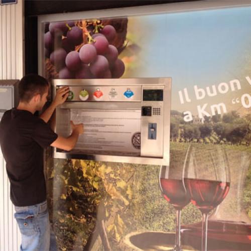 Inaugurato il primo d.a. pubblico di vino