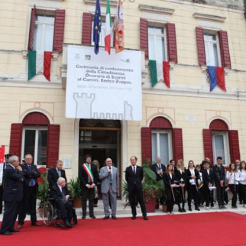 Cittadinanza onoraria a Enrico Zoppas, patron di A.M. San Benedetto