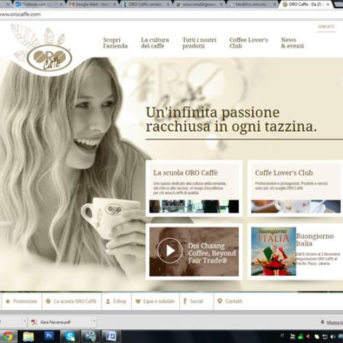 Oro Caffè presenta il nuovo sito