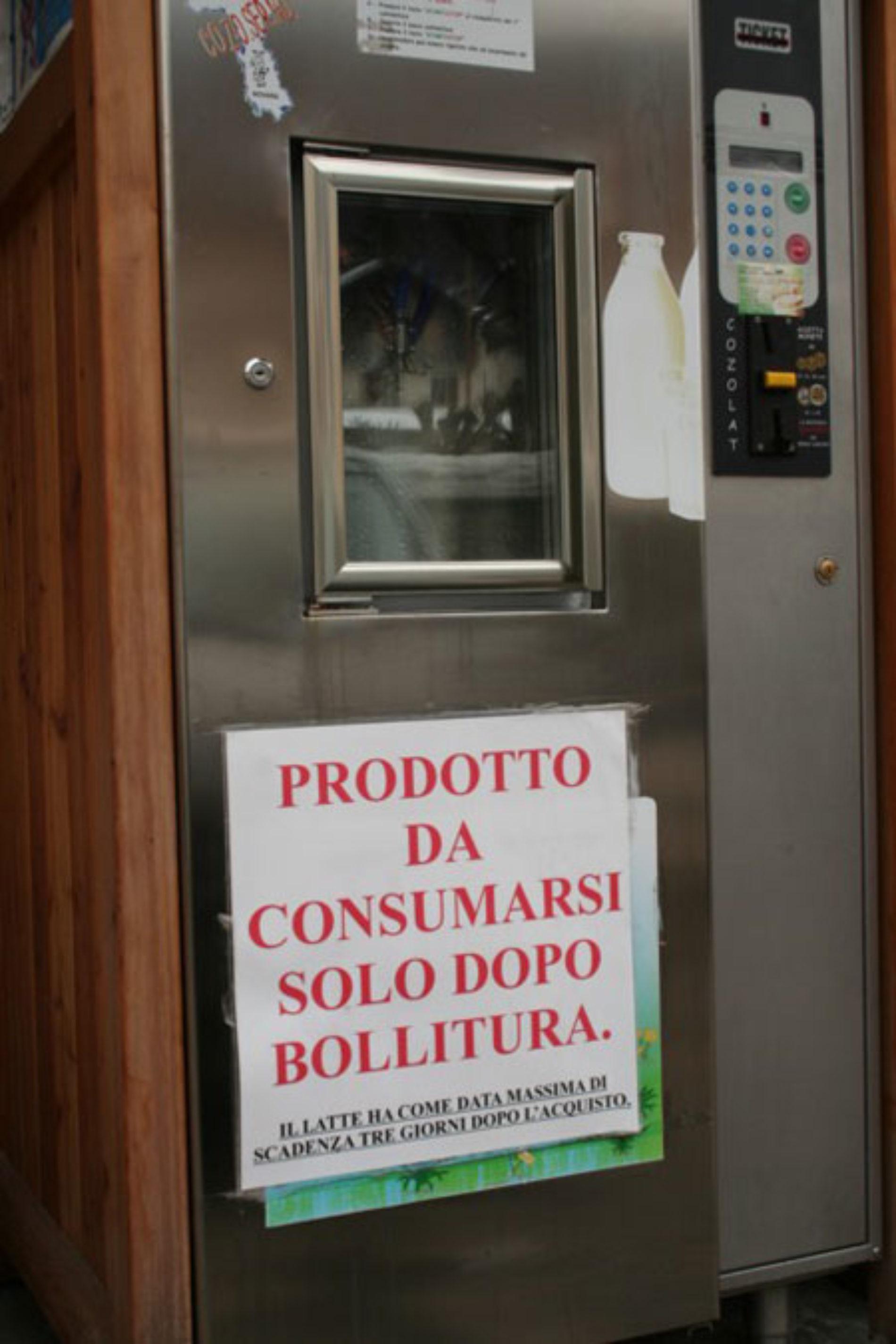 Distributori automatici di latte crudo. Interviene l'EFSA