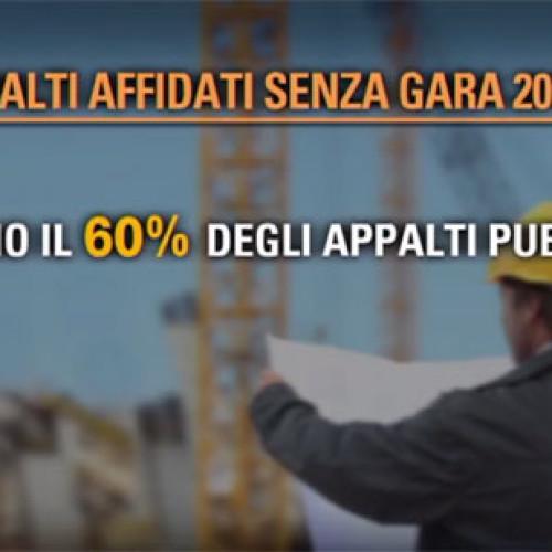 Comuni d'Italia. Appalti pubblici affidati senza gara (Video)