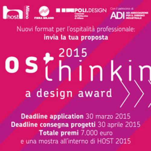 Host 2015. Torna il concorso HOSThinking