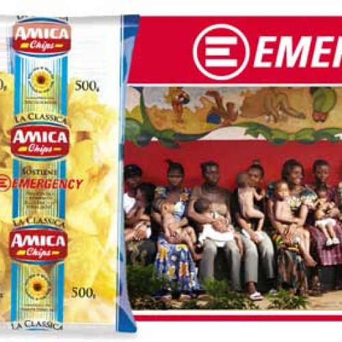 Amica Chips sostiene Emergency