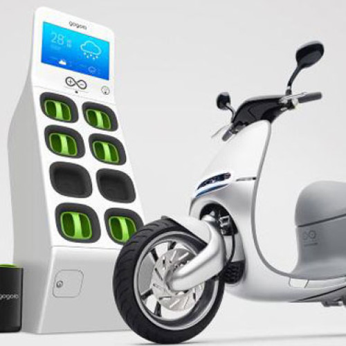 USA. Lo scooter green a pile distribuite dalla vending machine