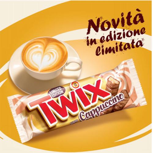 Twix Cappuccino. La grande novità di Mars Italia