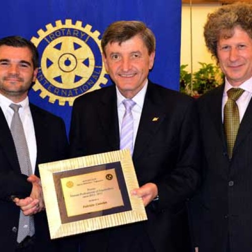 Fabrizio Cattelan premiato dal Rotary Club