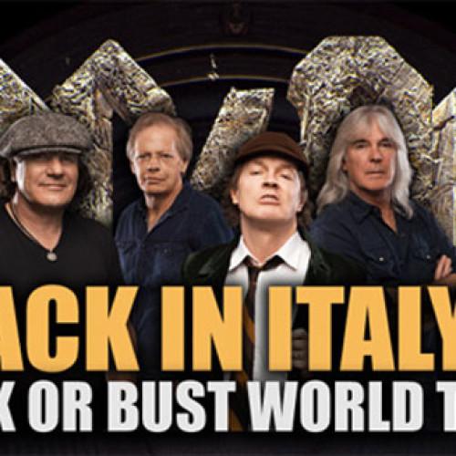 San Benedetto sponsor tecnico del concerto degli AC/DC