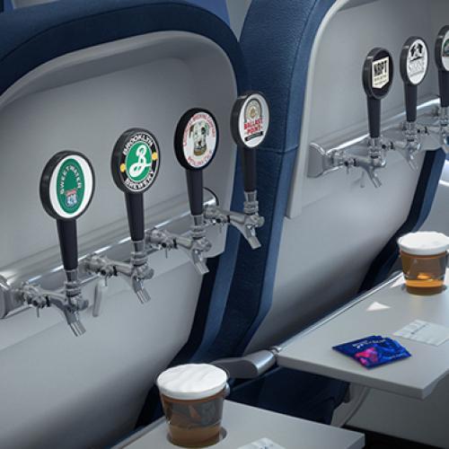 Birra in volo grazie al dispenser integrato