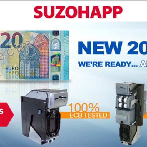 SUZOHAPP dà il benvenuto alla nuova banconota da 20 euro