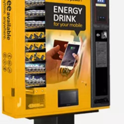Il caricabatterie smartphone usa e getta nella vending machine