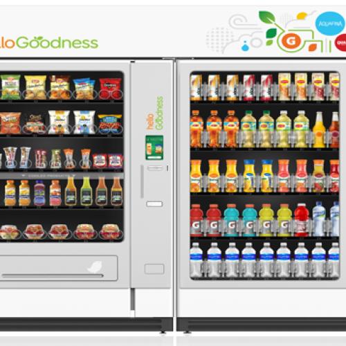 """PepsiCo lancia le """"Hello Goodness"""" vending machine"""