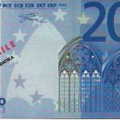 Banconote fac-simile da 20 euro nei distributori automatici in Toscana