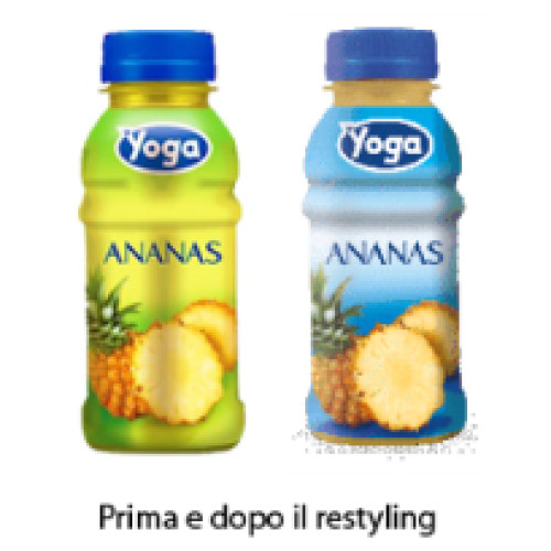 Conserve Italia: restyling del succo di frutta Yoga
