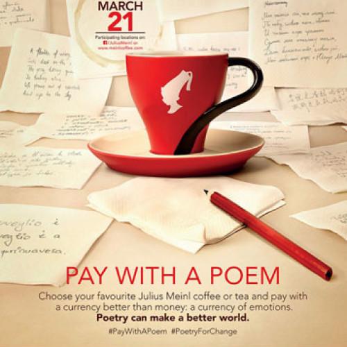 Julius Meinl. Paga il caffè con una poesia