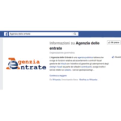 L'Agenzia delle Entrate debutta su Facebook