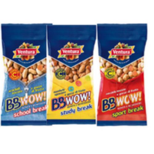Dal mondo della frutta secca Ventura gli snack BBWOW