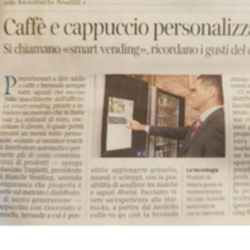 Il Corriere della Sera parla di  Smart Vending