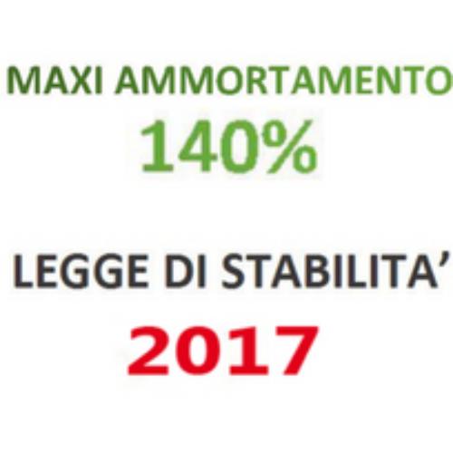 Maxi ammortamento. Possibile proroga nella LS 2017