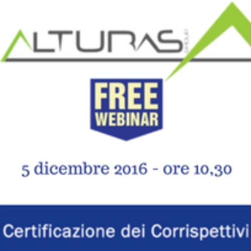Alturas Sistemi: webinar gratuito sui corrispettivi