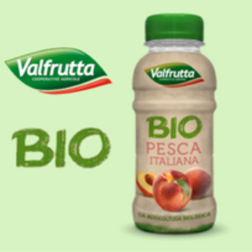 Valfrutta Bio Pesca Italiana pet da 250 ml nel vending