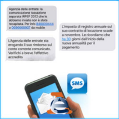 L'Agenzia delle Entrate comunica via SMS