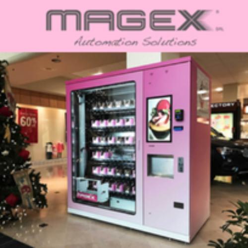 La Cupcake Machine a vetrina realizzata da Magex
