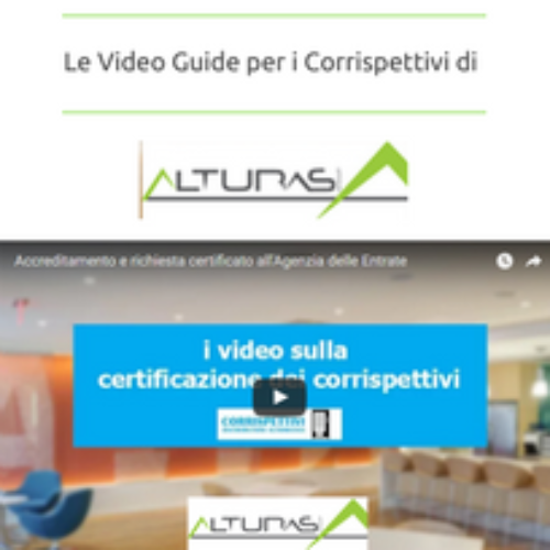 Corrispettivi. Le video guide step by step di Alturas