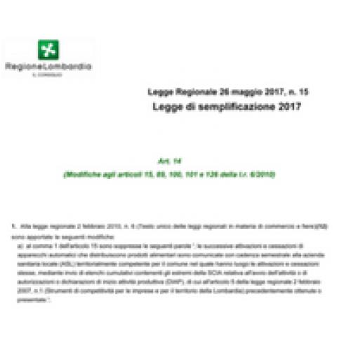 Regione Lombardia. Confermata eliminazione SCIA