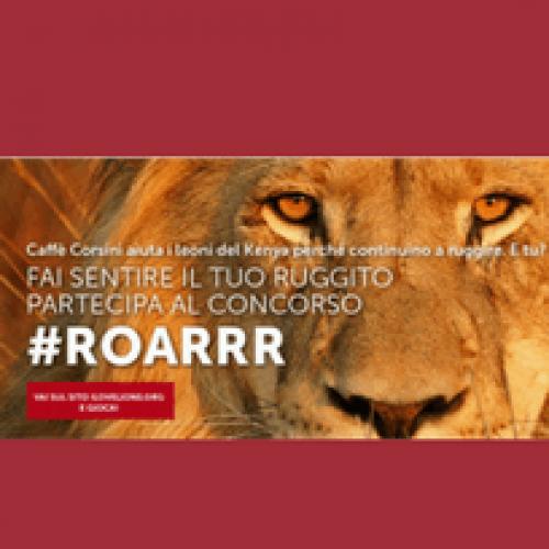 """""""Roar!"""" il concorso di Caffè Corsini che salva il leone in Africa"""