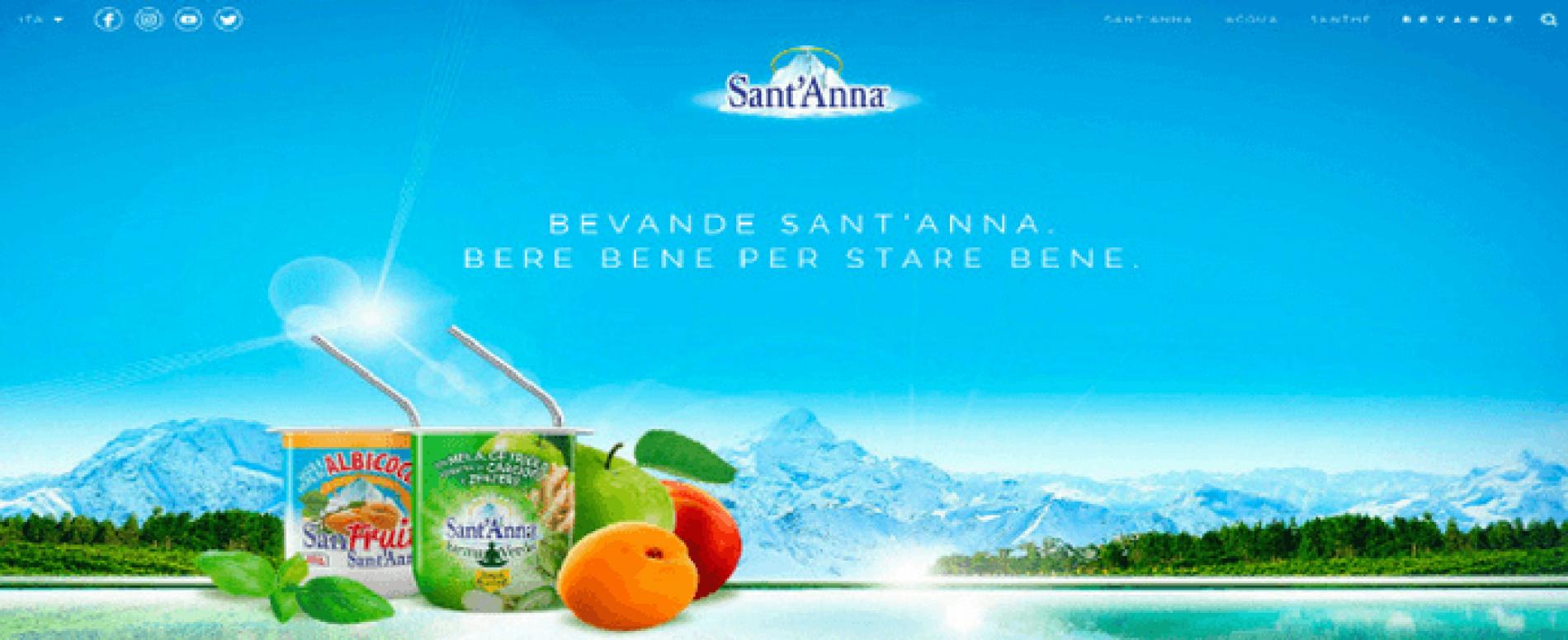Presentato il nuovo sito di Acqua Sant'Anna