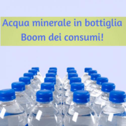 Gran caldo: esplodono i consumi di acqua minerale