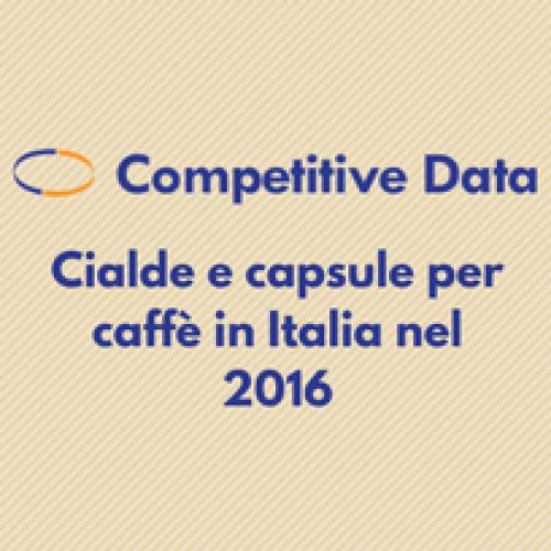 Competitive Data: cialde e capsule per caffè in Italia nel 2016