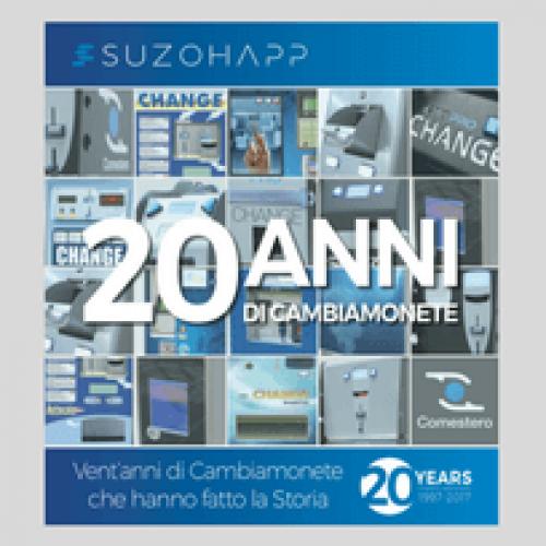 SUZOHAPP festeggia 20 anni di cambiamonete Comestero