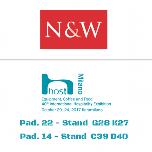 N&W a Host. Pad. 22 Stand G28 K27 – Pad. 14 Stand C39 D40