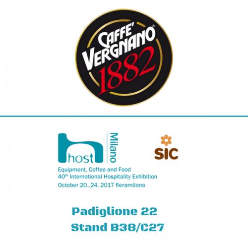 Caffè Vergnano a Host. Pad. 22 – Stand B38/C27