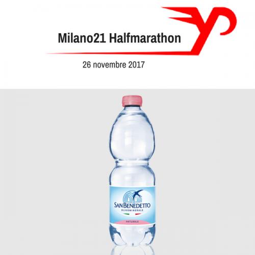 San Benedetto sponsor della Milano21 Half Marathon