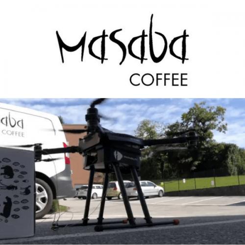 Il caffè Masaba può arrivare dappertutto. Ci pensa il drone!
